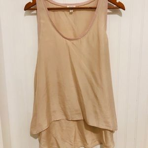 Soft by Joie pale pink silk swing Tank Blouse M